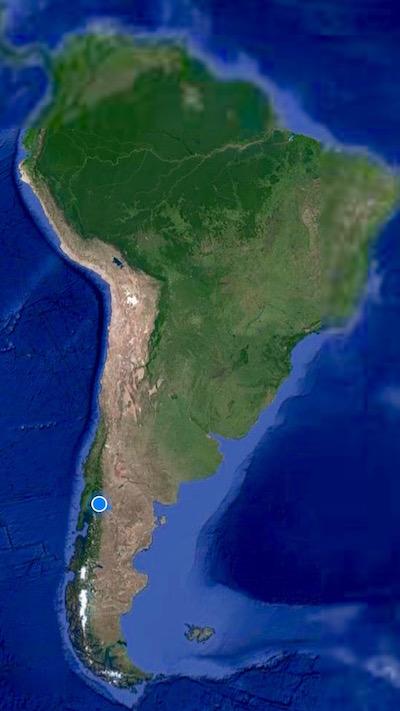 Mapa Sur América