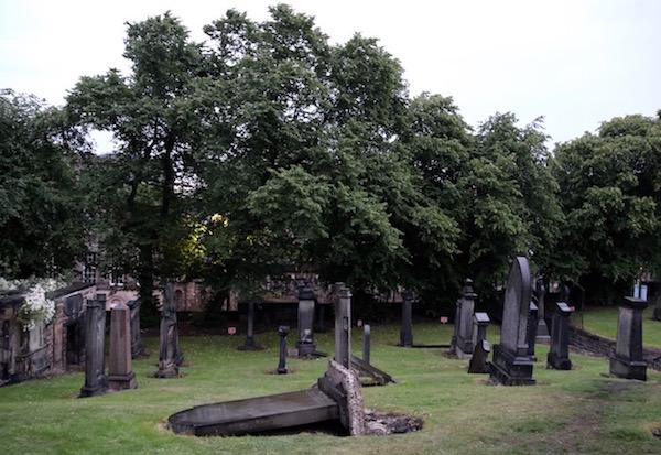 Lápidas cementerio de Old Calton