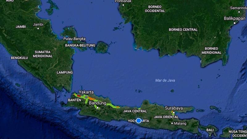 Mapa Isla de Java