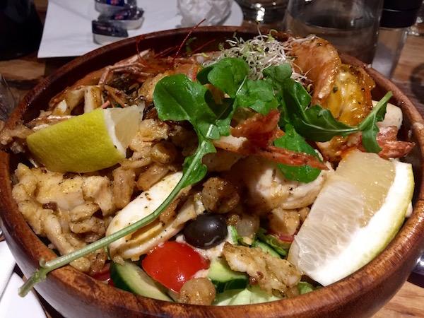 Ensalada frutos de Mar