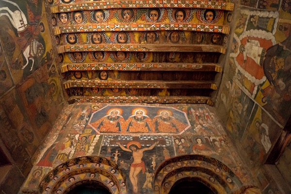 Detalles iglesia Debre Birhan Selassie