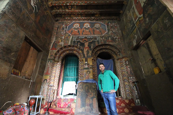 Interior iglesia Debre Birhan Selassie
