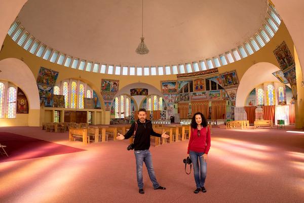 Interior iglesia nuevade Santa María de Sion