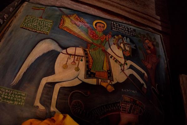 Pintura iglesia de Biet Ghiorgis