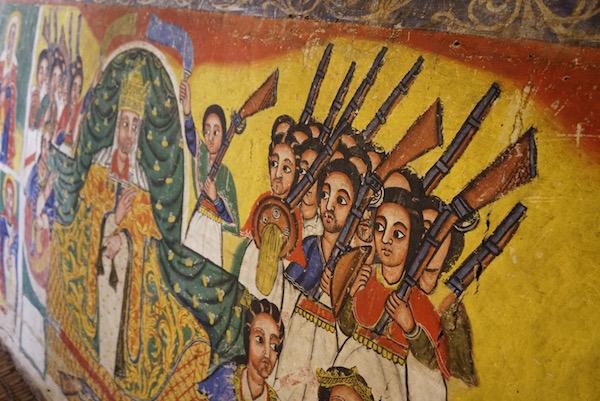 Pinturas monasterio de Azuwa Maryam