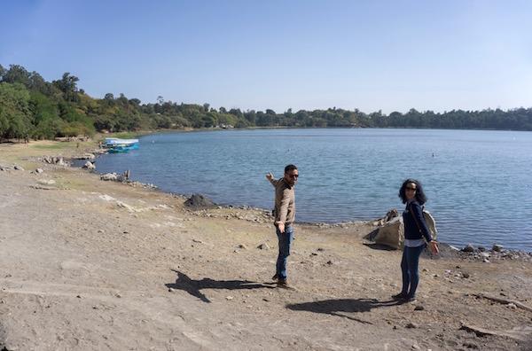 Vistas al lago Irrecha