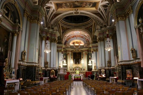 Interior Iglesia de San Francisco Asís