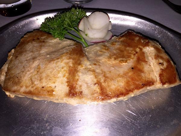Atún plancha, restaurante el Buque.