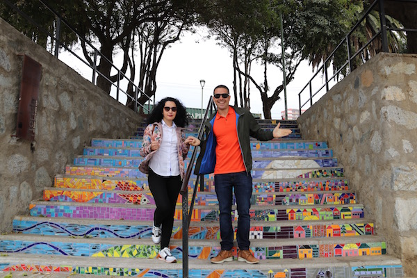 Escalera Plaza de los poetas, Valparaíso.