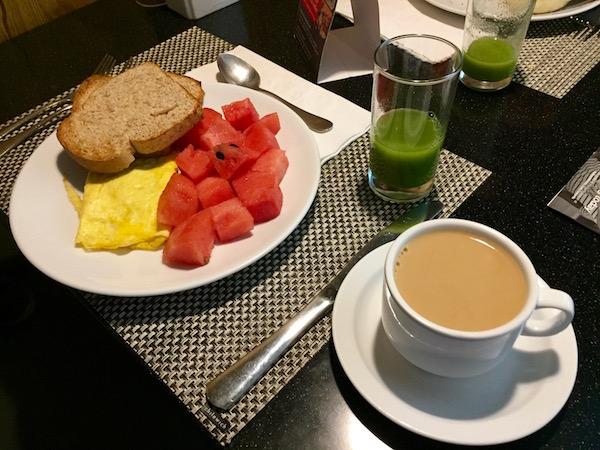 Hotel Radisson, Desayuno