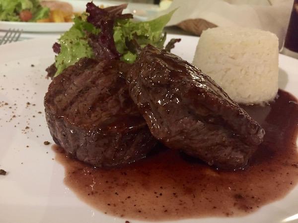 Lomo de ternera, Restaurante El Ricón de la Villa.