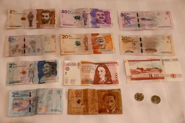 Moneda Peso Colombiano.