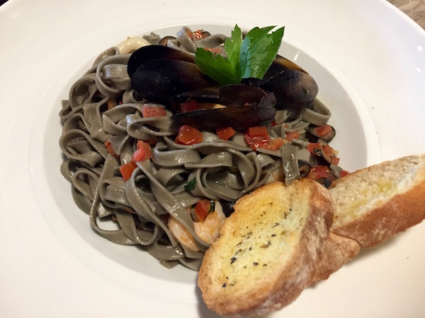 Pasta con marisco, Restaurante Novecientos 900.