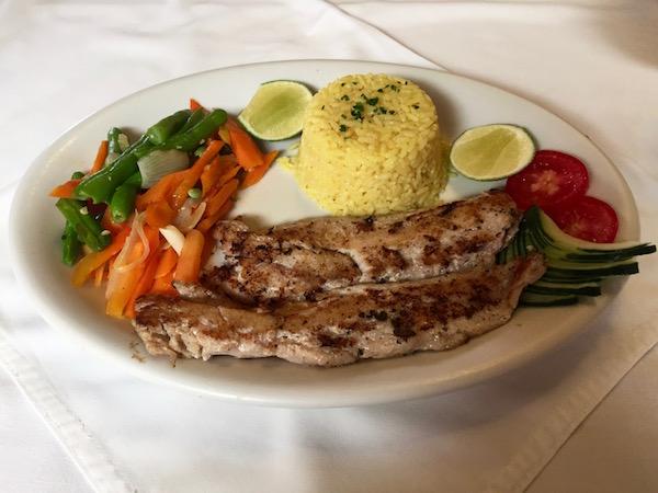 Plato de Pescado en el restaurante Casablanca.