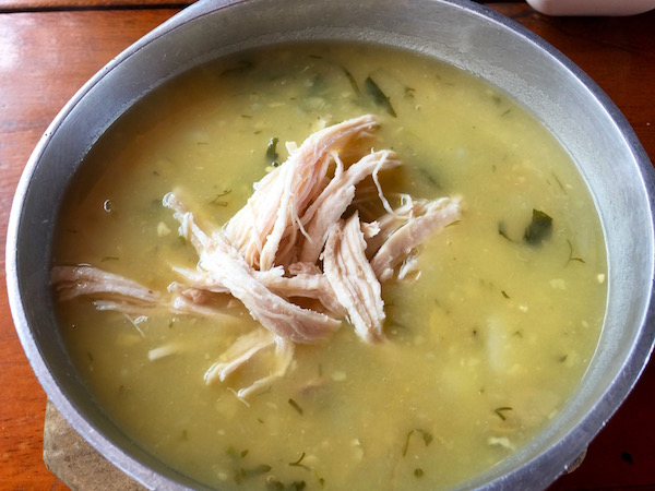 Sopa de Ajiaco, Restaurante Asador Sal y Gallina.