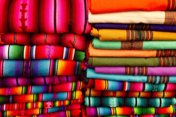 Telas Mercado en Santiago Atitlán.