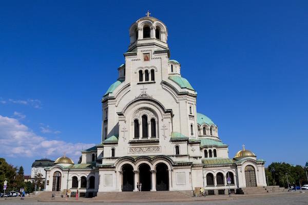 Fachada Iglesia Memorial de Alejandro Nevski.