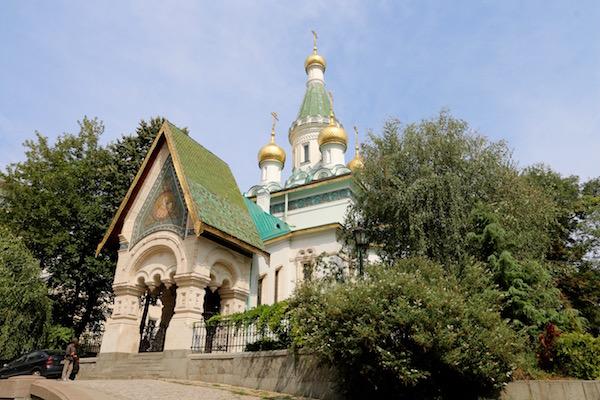 Fachada iglesia Rusa de Sveti Nikolai.