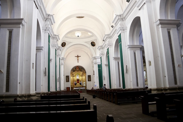 Interior iglesia y convento de la Merced.