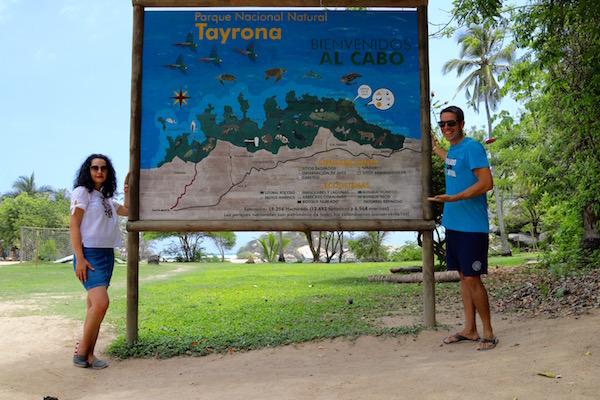 Letrero Cabo San Juan Guia.