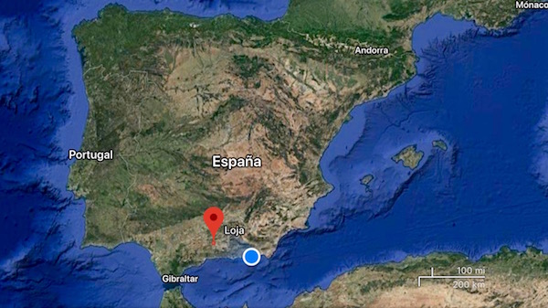 Mapa Loja, Granada.