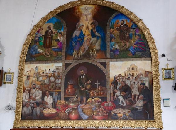 Pinturas iglesia de San Pedro Apóstol.