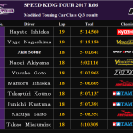 Qualitying3(予選)速報 SPEED KING TOUR Rd6