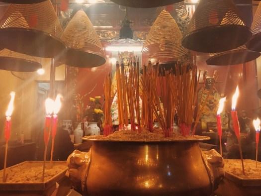 Incense at Man Mo Temple Hong Kong