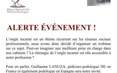 Webinar ongle incarné animé par Mr Guillaume Lanuza