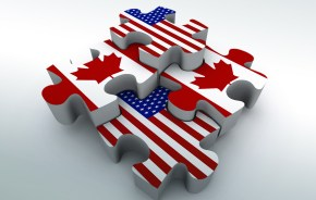 Canada US Puzzle Pieces