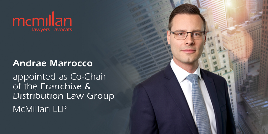 Andrae Marrocco appointed as Co-Chair of the Franchise & Distribution Law Group