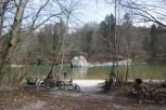 Der Georgenstein an der Isar. Im Sommer ein beliebter Bade- und Inswasserspringplatz.