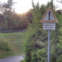 Radfahrer nicht absteigen!