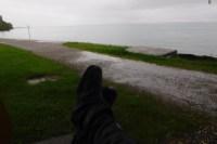 Regen, Bodensee im Hintergrund