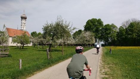Am Vortag: Idylle am Jasberg mit dem Sohn und der Schwägerin