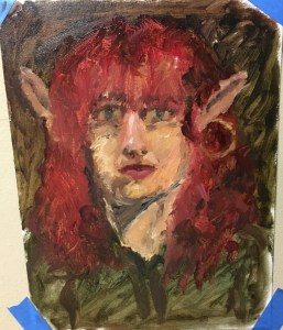 oil painting elf portrait