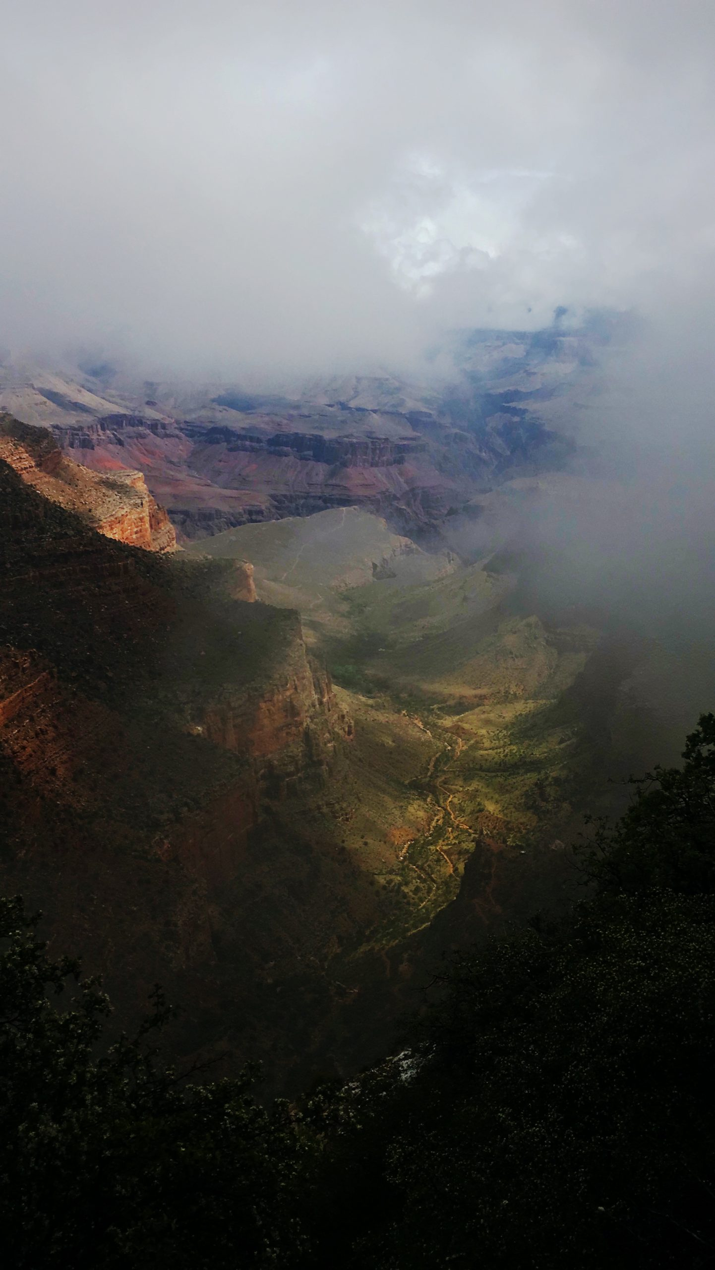 grand canyon through the clouds