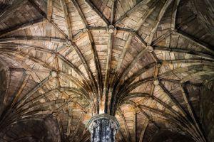 Dachhimmel einer Kirche in Schottland