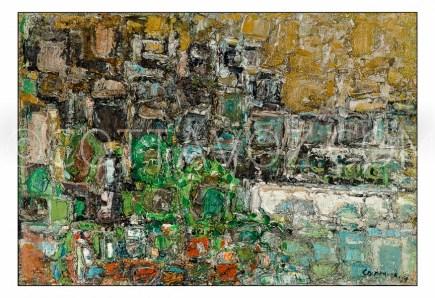 Marche-a-lyon-quais St Antoine-le-matin-1959-50x73-huile sur toile