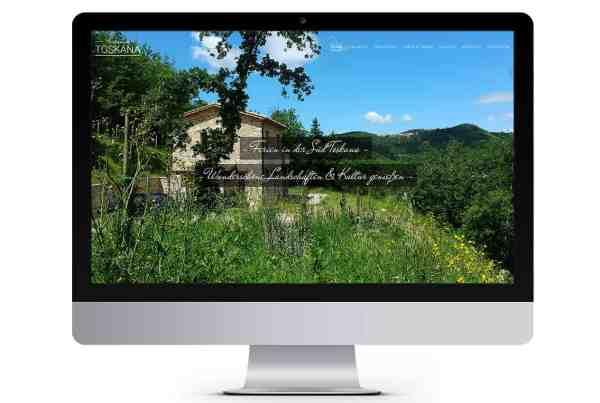 Webdesign Toskana Ferienhaus, Süd-Toskana, Toscana, Urlaub Toskana, Webseite, Webdesign aus Eckernförde, Webdesigner Andrea Baitz