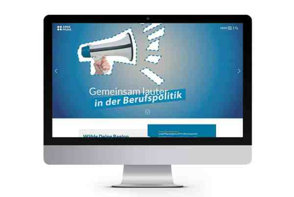 Webdesign Entwicklung BAG Junge Pflege (Bundesverband), Webdesign aus Eckernförde, Webdesigner Andrea Baitz