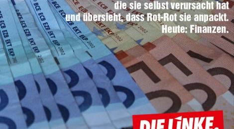 Die CDU entdeckt Probleme, die sie selbst verursacht hat und übersieht, dass Rot-Rot sie anpackt. Heute: Finanzen