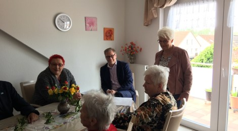 Mit dem Sozialstaatssekretär Andreas Büttner im Havelland unterwegs