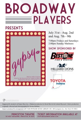 Broadway Players 'Gypsy' Poster