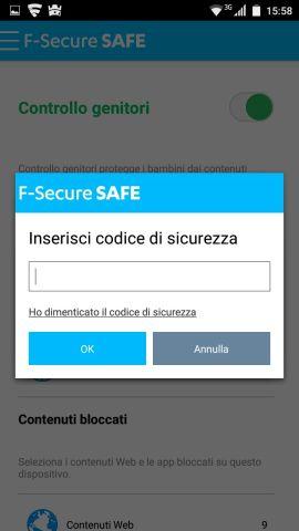 F-Secure SAFE: codice di sicurezza