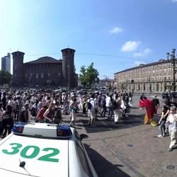25 aprile 2018 - Corteo per la Pace e l'Unità Bloco Do Mundo - Torino, Piazza Castello - VIDEO