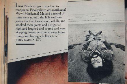 """Jerry Garcia, 1972, """"Finally there was marijuana!"""" photo by Annie Leibovitz on andreabadgley.com"""