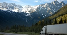 Picture of moving van driving cross country