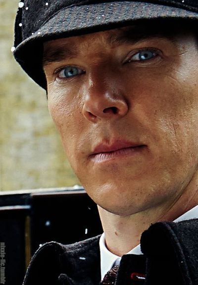 "Benedict Cumberbatch wearing a deerstalker hat in ""Sherlock"""