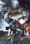 DEATH DEALER - watercolor - 1993
